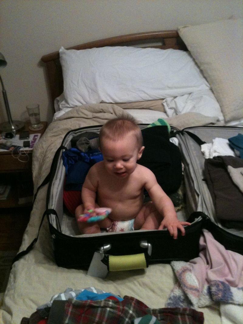Helping to pack